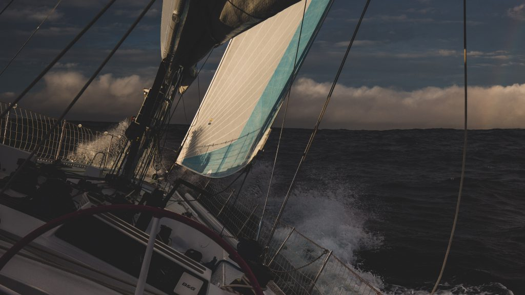 It's a dark morning on Maiden, with the early night casting shadows across the deck.